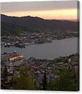 Bergen Sunset Panorama Canvas Print