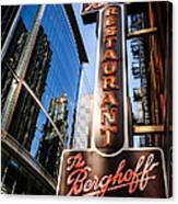 Berghoff Restaurant Sign In Downtown Chicago Canvas Print
