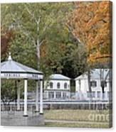 Berkeley Springs Bandstand In West Virginia Canvas Print