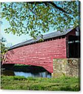 Berks Courty Pa - Griesemer's Covered Bridge Canvas Print
