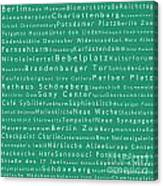 Berlin In Words Algae Canvas Print