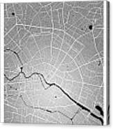 Berlin Street Map - Berlin Germany Road Map Art On Colored Backg Canvas Print