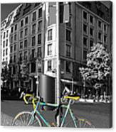 Berlin Street View With Bianchi Bike Canvas Print