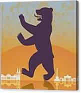 Berlin Vintage Poster Canvas Print