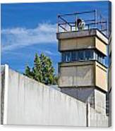 Berlin Wall Memorial A Watchtower In The Inner Area Canvas Print