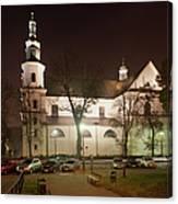 Bernandine Church At Night In Krakow Canvas Print