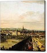Bernardo Bellotto Wien Vom Belvedere Aus Gesehen 1758 1761 Canvas Print