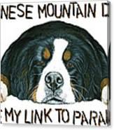 Bernese Mountain Dog Paradise Canvas Print