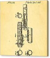 Berteling Flute Patent Art 1868 Canvas Print