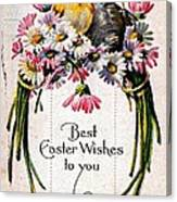 Best Easter Wishes To You 1909 Vintage Postcard Canvas Print