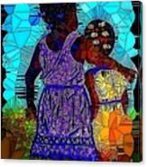 Best Friends Mosaic Canvas Print