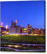 Best Minneapolis Skyline At Night Blue Hour Canvas Print