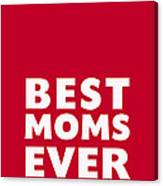 Best Moms Card- Red- Two Moms Mother's Day Card Canvas Print