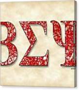 Beta Sigma Psi - Parchment Canvas Print