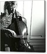 Beth And Oiled Cello Canvas Print