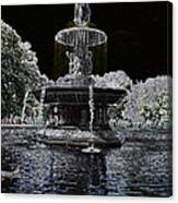 Bethesda Fountain Abstract Canvas Print