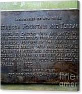 Bethesda Fountain And Terrace Canvas Print