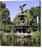 Bethesda Fountain Iv - Central Park Canvas Print