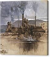 Bethlehem Steel Corporation Circa 1881 Canvas Print