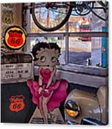 Betty Boop At Albuquerque's 66 Diner Canvas Print