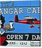 Betty's Hangar Cafe Canvas Print