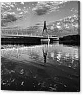 Between Sky River And Two Coasts Canvas Print