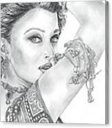 Beutiful Indian Actress Canvas Print