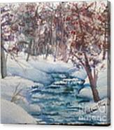 Beyond The Pond Canvas Print