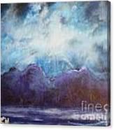 Beyond The Purple Hills Canvas Print