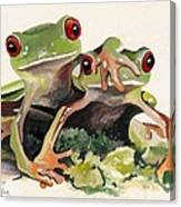 BFF Froggies Canvas Print