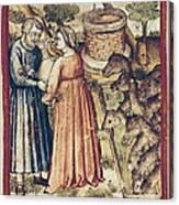 Bibbia Istoriata Padovana. 14th C. - Canvas Print