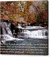 Bible Verse And Inspirational Greeting Card Autumn Fine Art Photography Prints And Posters. Canvas Print