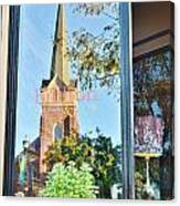 Biblion Used Books Reflections 3 - Lewes Delaware Canvas Print