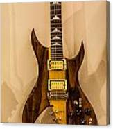 Bich Electric Guitar Colored Canvas Print