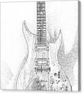 Bich Electric Guitar Sketch Canvas Print