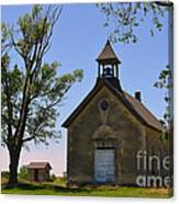 Bichet School In Marion County In Kansas Canvas Print