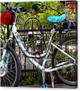 Bicycle At St Francis Cafe Canvas Print