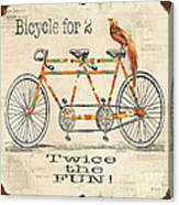Bicycle For 2 Canvas Print