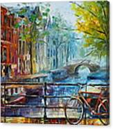 Bicycle In Amsterdam Canvas Print