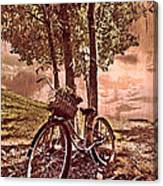 Bicycle In The Park Canvas Print