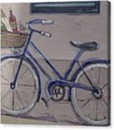Bicycle Leaning On A Wall Canvas Print