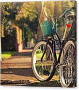 Bicycle On Sunny Street Canvas Print