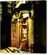 Bicycle On The Streets Of Beijing At Night Canvas Print
