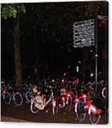 Bicycle Parking In Haarlem Canvas Print