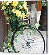 Bicycle Plant Holder Canvas Print