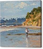 Bicycle Ride On Beach Canvas Print