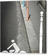 Bicycle Symbol In Paris Canvas Print