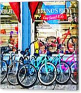 Bicycles And Chocolate Canvas Print