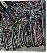 Bicycles For Rent Canvas Print