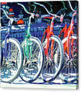 Bicycles In A Row San Diego Canvas Print